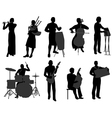 musicians 2 vector image vector image