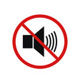 no volume icon vector image