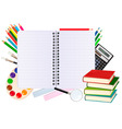 Notebook with school supplies vector | Price: 1 Credit (USD $1)