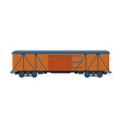 old wooden cargo train wagon railroad vector image vector image