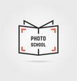 photo school logo with shadow vector image