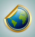 Planet Earth sticker vector image vector image