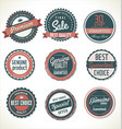 premium quality retro badge collection 2 vector image vector image