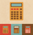Retro Calculator vector image vector image