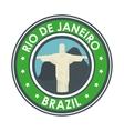 rio de janeiro brazil statue jesus emblem graphic vector image vector image