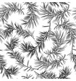 seamless background with fir tree in grayscale vector image vector image