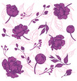 seamless pattern with flowers vintage vector image vector image