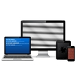 Set of faulty digital devices vector image vector image
