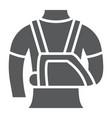 shoulder immobilzer glyph icon medical vector image vector image