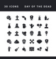 simple icons day dead vector image