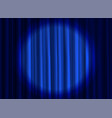 stage blue curtain theatrical or cinema cloth vector image vector image