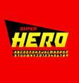 superhero comics style font vector image vector image