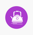 tea kettle teapot camping pot white glyph icon in vector image