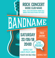 template for rock concert poster vector image