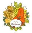 Thanksgiving Day greeting card with berries vector image vector image