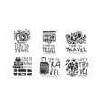 time to travel labels or logos original design vector image vector image