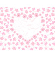 valentine s day card field and heart of pink vector image