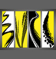 vertical tire banners vector image vector image
