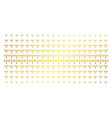 wi-fi station gold halftone effect vector image vector image