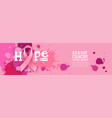 world cancer day breast disease awareness vector image vector image