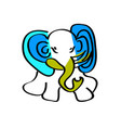 child s picture blue elephant vector image