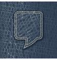 Jeans textured speech bubble vector image