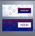 4th july banners set in white and blue colors vector image vector image