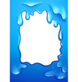 A blue template design vector image