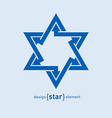 Abstract design element blue star vector image vector image