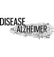 alzheimers dementia text word cloud concept vector image vector image