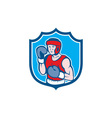 Amateur Boxer Stance Shield Cartoon vector image vector image