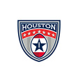 American Football Houston Stars Stripes Crest vector image vector image