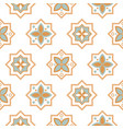 arabesque seamless pattern tiles oriental ceramic vector image vector image