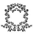 baroque frame border monogram floral ornament vector image vector image