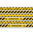 biohazard danger yellow black seamless tape vector image