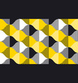 black and yellow fun concept geometry pattern vector image