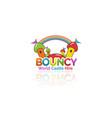 bouncy castle hire logo design vector image
