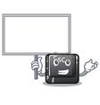 bring board cartoon esc button attached to vector image vector image