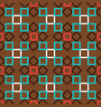 brown turkish ornamental ceramic tile vector image vector image