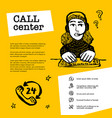 call center concept customer service chat web vector image