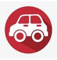 car icon concept eco red button vector image