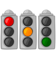 cartoon traffic lights set vector image vector image