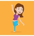 Cheerful caucasian woman dancer dancing vector image vector image