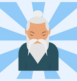 chinese sensei old man asian elderly portrait vector image vector image