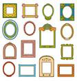 colorful set frames hand drawn cartoon photo vector image vector image