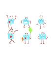 cute paper envelopes cartoon characters set funny vector image vector image