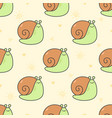 cute snail seamless pattern background vector image vector image