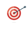 Darts target aim vector image