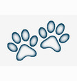 dog or cat paw prints made with stipple design vector image