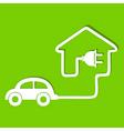 Eco car make a home icon stock vector image vector image